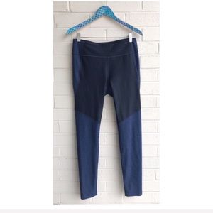 Outdoor Voices Two Tone Blue Warm Up Leggings